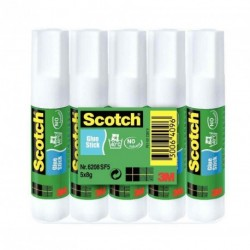 Bâton de colle blanche Scotch 8g - lot de 5