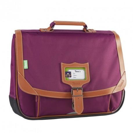 Cartable Tann's Incontournable couleur prune 38cm