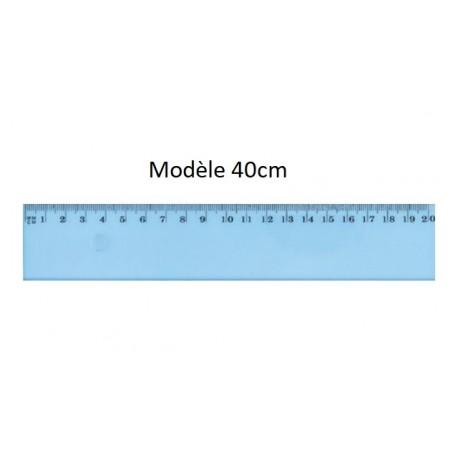 Règle en plastique incassable JPC de 40cm