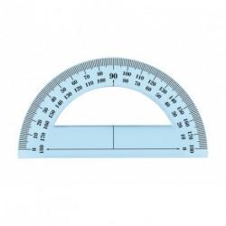 Rapporteur en plastique incassable JPC de 180° et 12cm