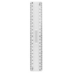 Règle plastique transparent JPC de 20cm avec barette de maintien