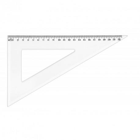 Equerre cristal plastique JPC 60° de 22cm