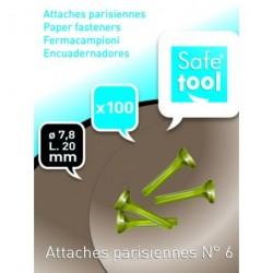 Attache parisienne N°6 de 25mm - Boîte de 100