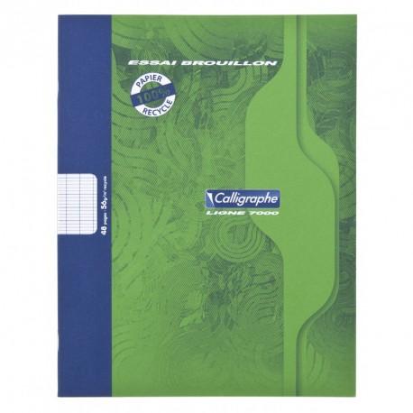 Cahier de Brouillon Calligraphe 17x22 48 pages grands carreaux