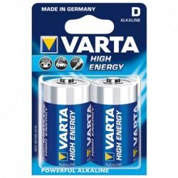 Piles LR20 - D puissance 1,5V - blister de 2 piles Varta