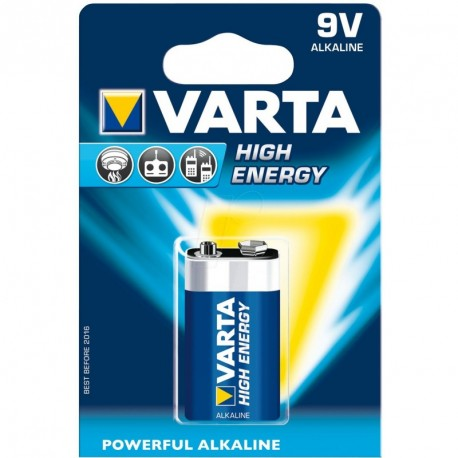 Piles LR61 - 9V puissance 9V - blister de 1 piles Varta