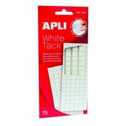Pâte adhésive White tack Apli - pochette de 114 pastilles blanche