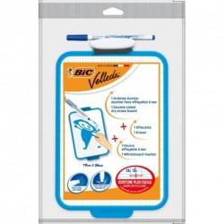 Ardoise blanche Bic Velleda avec feutre et brosse