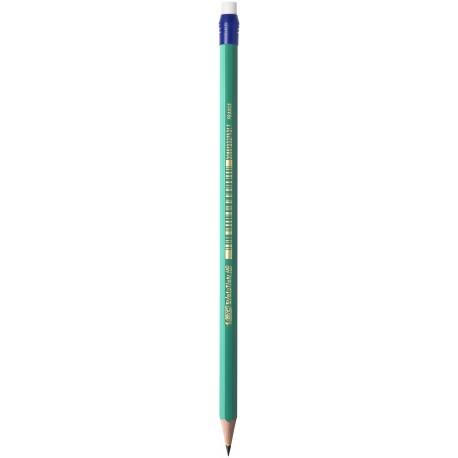 Crayon à papier Bic Ecolution Evolution HB avec bout gomme