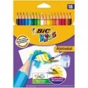 Crayons de couleur aquarélable Bic Kids Aquacouleur - pochette de 18 assortis