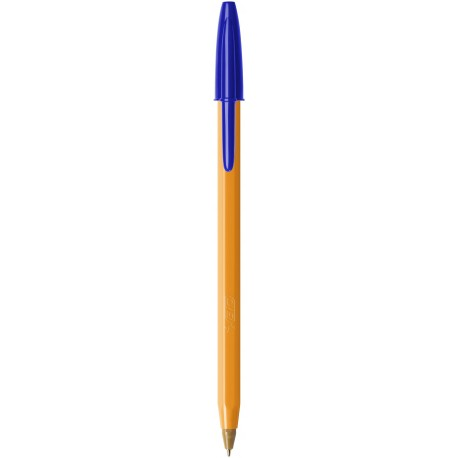Stylo bille Bic Orange pointe fine avec capuchon - Bleu