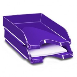 Corbeille a courrier  ceppro gloss - violet