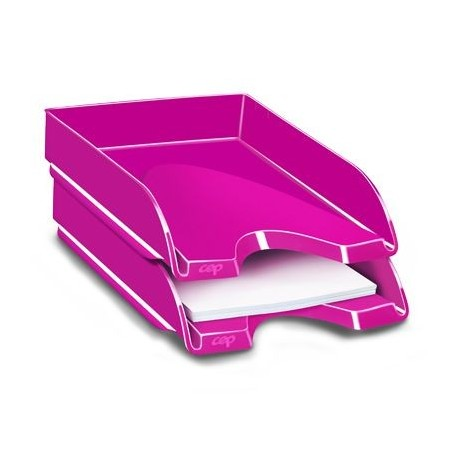 Corbeille a courrier  ceppro gloss - rose