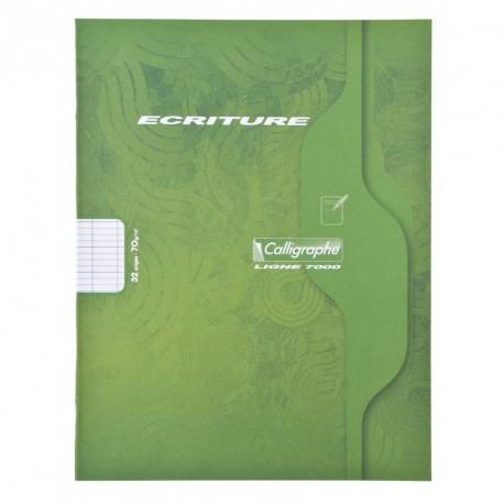 Cahier petit format 17x22 32p grand carreaux 3mm Calligraphe