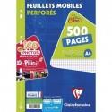 Feuilles simples lot de 500 format A4 21x29,7 petits carreaux 5/5 Clairefontaine