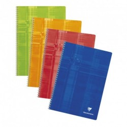 Cahier spirale A4 21x29,7 100p petits carreaux (5x5) Clairefontaine