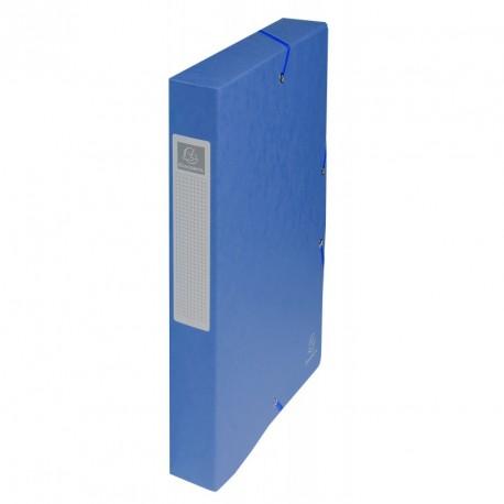 Boite de classement carton Exabox dos de 4cm - Bleu