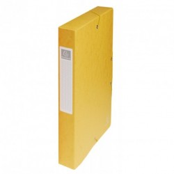 Boite de classement carton Exabox dos de 4cm - Jaune