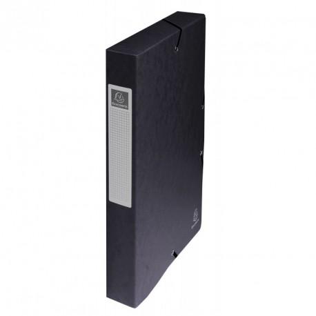Boite de classement carton Exabox dos de 4cm - Noir