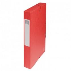 Boite de classement carton Exabox dos de 4cm - Rouge