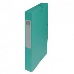 Boite de classement carton Exabox dos de 4cm - Vert