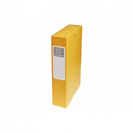 Boite de classement carton Exabox dos de 6cm - Jaune