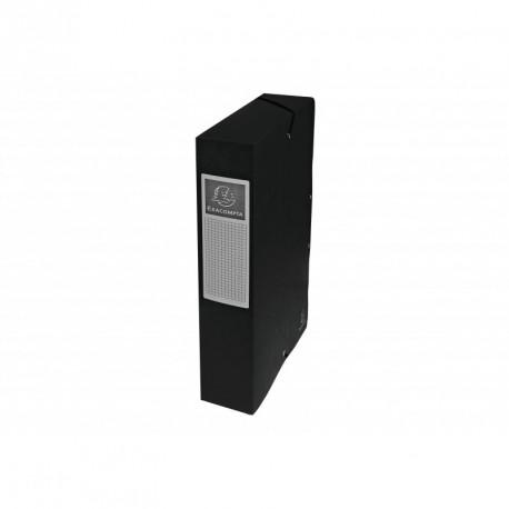Boite de classement carton Exabox dos de 6cm - Noir