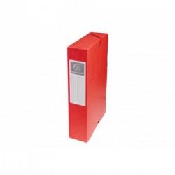 Boite de classement carton Exabox dos de 6cm - Rouge