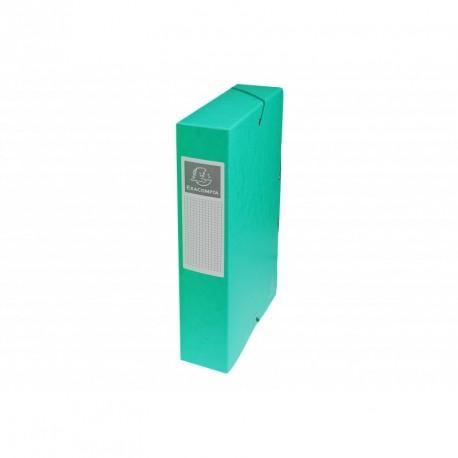 Boite de classement carton Exabox dos de 6cm - Vert