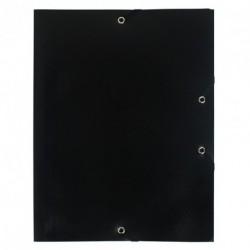 Chemise à élastique avec 3 rabats en plastique - couleur noir