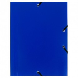 Chemise à élastique avec 3 rabats en plastique - couleur bleu