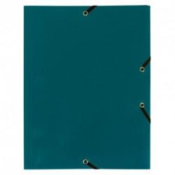 Chemise à élastique avec 3 rabats en plastique - couleur vert