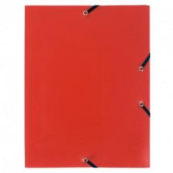 Chemise à élastique avec 3 rabats en plastique - couleur rouge
