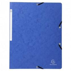 Chemise à élastique sans rabats en carton - couleur bleu