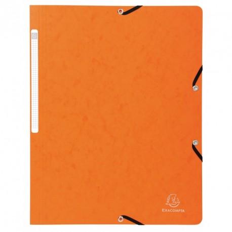 Chemise à élastique sans rabats en carton - couleur orange