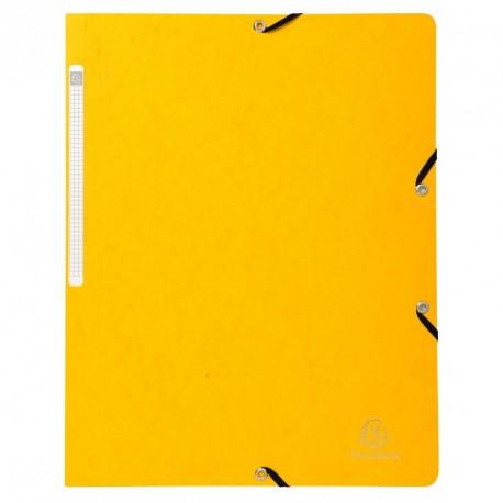 Chemise à élastique sans rabats en carton - couleur jaune