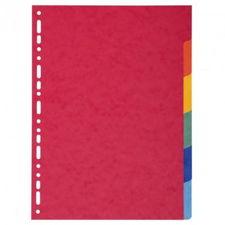 Intercalaire 6 positions A4 (21x29,7) en carton