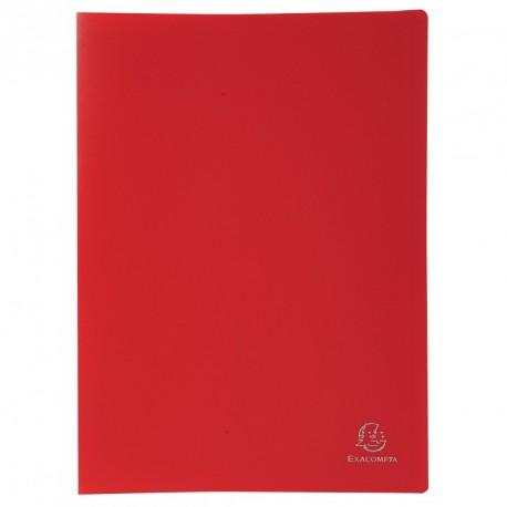 Protége-documents format A4 30 pochettes/60vues - rouge