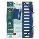 Trieur carton de 12 compartiments extensibles - couleurs assortis