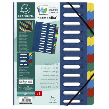 Trieur carton de 24 compartiments extensibles - couleurs assortis
