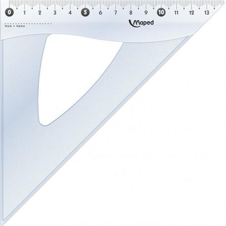 Equerre cristal plastique Maped 45° de 21cm