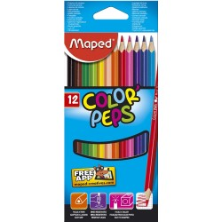Crayons de couleur Maped Color'Peps - pochette de 12