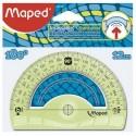 Rapporteur en plastique incassable Maped Flex de 180° et 12cm