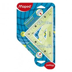 Equerre en plastique incassable Maped 45° de 21cm