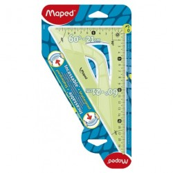 Equerre en plastique incassable Maped 60° de 22cm