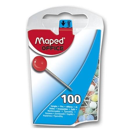 Epingle de signalisation Maped 10mm - couleurs assortis