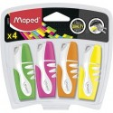 Surligneur Maped Fluo'Peps pocket format mini - lot de 4