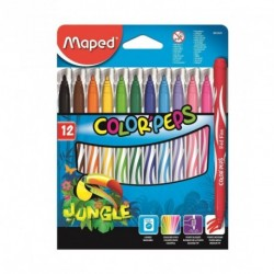 Feutres Maped Color'Peps Jungle - pochette de 12