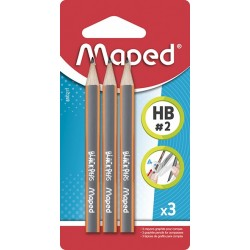 Crayon pour compas Maped Black peps lot de 3