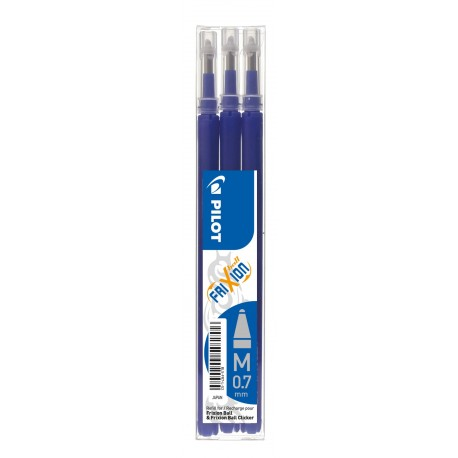 Recharge pour stylo Roller Pilot FriXion ball 0,7mm - Bleu